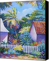 Grand Cayman Canvas Prints - Picket Fence Canvas Print by John Clark