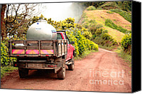 Azoren Canvas Prints - Pickup truck Canvas Print by Gaspar Avila