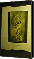 Thelma Harcum Canvas Prints - Picture Print of Duchamp Painting Canvas Print by Thelma Harcum
