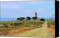 Maritime Canvas Prints - Piedras Blancas historic Light Station - Outstanding Natural Area Central California Canvas Print by Christine Till