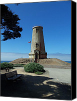 Cambria Photo Canvas Prints - Piedras Blancas Lighthouse Canvas Print by Jan Moore