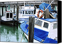 Photo-realism Canvas Prints - Pier 39 Canvas Print by Denny Bond