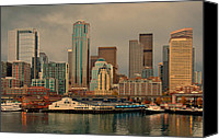 Seattle Waterfront Canvas Prints - Pier 54 Canvas Print by Dan Mihai
