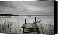 Absence Canvas Prints - Pier To Lacanau Lake Canvas Print by  Yannick Lefevre - Photography