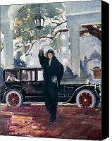 Waving Canvas Prints - Pierce-arrow Ad, 1925 Canvas Print by Granger