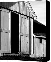 Ranches Canvas Prints - Pierce Point Ranch 16 . bw Canvas Print by Wingsdomain Art and Photography