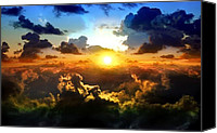 Robert Anderson Photo Canvas Prints - Piercing Sun Canvas Print by Robert Anderson