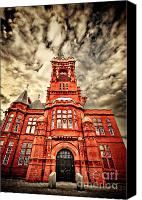 Construction Canvas Prints - Pierhead Canvas Print by Meirion Matthias