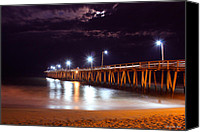 Beach Photos Canvas Prints - Pier_V2 Canvas Print by Christopher  Ward 