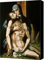 Mother Of God Canvas Prints - Pieta Canvas Print by Luis de Morales