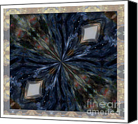 Renata Ratajczyk Canvas Prints - Pietersite Gemstone Mandala - 1 Canvas Print by Renata Ratajczyk