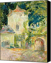 House Painting Canvas Prints - Pigeon Loft at the Chateau du Mesnil Canvas Print by Berthe Morisot