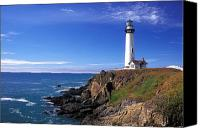 Lighthouses Canvas Prints - Pigeon Point Lighthouse 2 Canvas Print by Kathy Yates