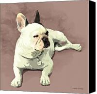 French Bulldog Canvas Prints - Piglet Canvas Print by Simon Sturge