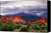 Storm Prints Canvas Prints - Pikes Peak Storm Canvas Print by Rod Seel