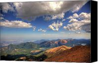Peak Canvas Prints - Pikes Peak Summit Canvas Print by Shawn Everhart