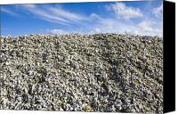 Garbage Canvas Prints - Pile of Oyster Shells, Long Beach Peninsula, Washington Canvas Print by Paul Edmondson