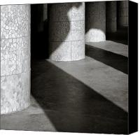Pillars Canvas Prints - Pillars and Shadow Canvas Print by David Bowman