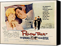 1959 Movies Canvas Prints - Pillow Talk, Doris Day, Rock Hudson Canvas Print by Everett