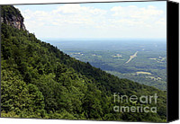 Griffin Canvas Prints - Pilot Mountain Canvas Print by Karen Wiles