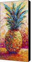 Yellow Canvas Prints - Pineapple Expression Canvas Print by Marion Rose