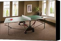 Fun Houses Canvas Prints - Ping Pong Table Canvas Print by Shannon Fagan