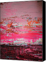 Modern Painting Special Promotions - Pink About It Canvas Print by Francine Ethier