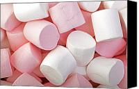 Junk Canvas Prints - Pink and White marshmallows Canvas Print by Jane Rix