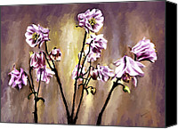 Corel Painter Painting Canvas Prints - Pink Flowers Canvas Print by Susan Kinney