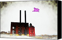 Battersea Canvas Prints - Pink Floyd Animals - Wilkes Barre Canvas Print by Bill Cannon