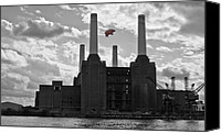Battersea Canvas Prints - Pink Floyd Pig at Battersea Canvas Print by Dawn OConnor