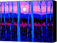 Treescape Canvas Prints - Pink Moon Canvas Print by John  Nolan