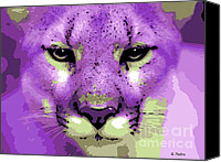 Mountain Lion Digital Art Canvas Prints - Pink Panther Canvas Print by George Pedro
