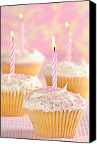 Yummy Food Canvas Prints - Pink Party Cupcakes Canvas Print by Christopher Elwell and Amanda Haselock