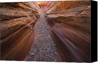 Valley Of Fire Canvas Prints - Pink Slot Canvas Print by Joseph Rossbach