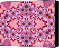 Spirituality Mixed Media Canvas Prints - Pink Splash Mandala Abstract Canvas Print by Zeana Romanovna
