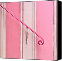 Pink Canvas Prints - Pink Stripes Canvas Print by Julie Gebhardt