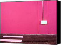 Lot Canvas Prints - Pink Wall // Mur Rose Canvas Print by Stéfan Le Dû