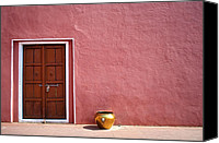 Featured Special Promotions - Pink Wall And The Door Canvas Print by Saptak Ganguly
