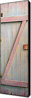 Door Sculpture Canvas Prints - Pink Z Door Canvas Print by Asha Carolyn Young