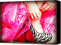Stillettos Canvas Prints - Pink Zebra Canvas Print by Corrie Knerr