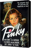 1949 Movies Canvas Prints - Pinky, Ethel Waters, Jeanne Crain, 1949 Canvas Print by Everett