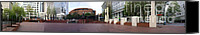 Pioneer Square Canvas Prints - Pioneer Panorama Canvas Print by David Bearden