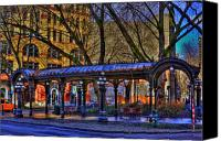 Pioneer Square Canvas Prints - Pioneer Square - Seattle Canvas Print by David Patterson