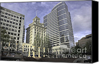 Pioneer Square Canvas Prints - Pioneer Square in H D R Canvas Print by David Bearden