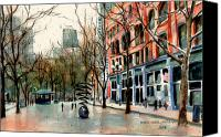 Pioneer Square Canvas Prints - Pioneer Square Canvas Print by Marti Green
