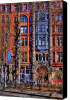 Pioneer Square Canvas Prints - Pioneer Square No.1 Canvas Print by David Patterson