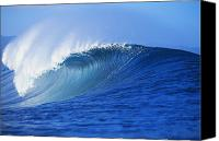 Water Art Canvas Prints - Pipeline Wave Curls Canvas Print by Vince Cavataio - Printscapes