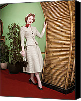 1950s Fashion Canvas Prints - Piper Laurie, 1950s Canvas Print by Everett