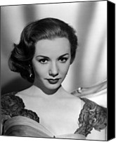 1950s Fashion Canvas Prints - Piper Laurie, 1954 Canvas Print by Everett